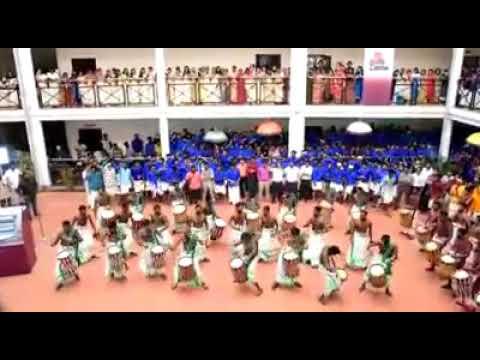 Best Kerala onam celebration 2017 | Attam Chenda Melam in college 2017|Onam celebration in college
