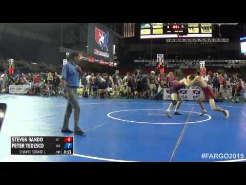 145 Champ. Round 1 - Peter Tedesco (Massachusetts) vs. Steven Rando (Louisiana)