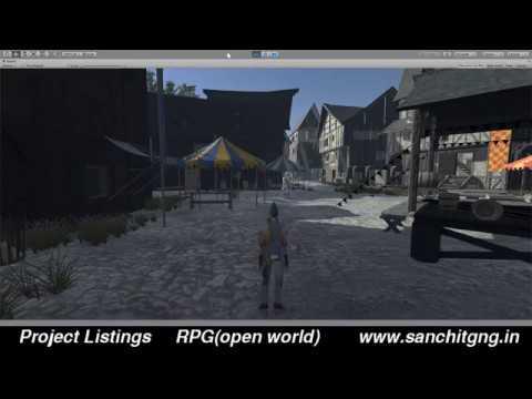 RPG(open world) Unity 3D game development