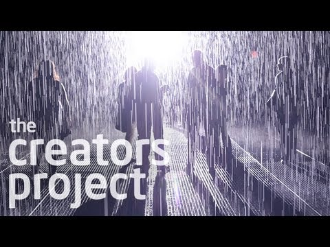 Walk Through Rain Without Getting Wet | Rain Room at MoMA