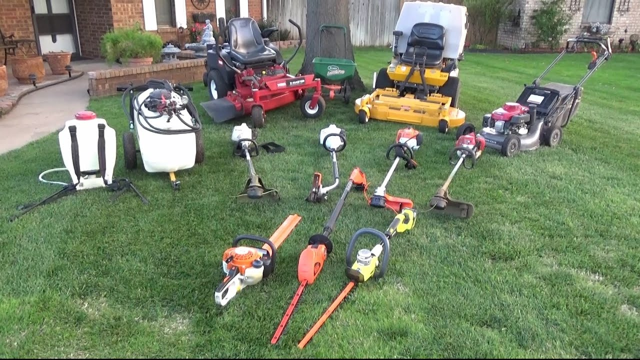 lawn care equipment setup 2017
