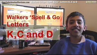 Walkers Crisps Spell & Go - Letters K, C and D Swaps Special to Win Holidays