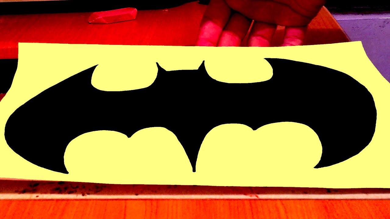 How To Draw Batman Logo Easy Style 2 2 Mrusegoodart Youtube