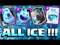 Clash royale - ALL ICE CARD DECK!! (Ice Golem Troll Attacks)