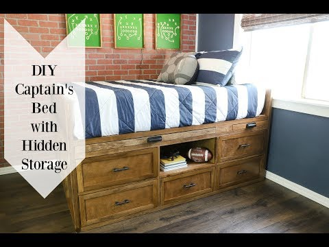 HOW TO Build A DIY Full Size Bed | HIDDEN NERF GUN STORAGE!