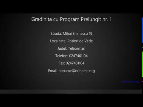 Gradinita Cu Program Prelungit Nr 1 Rosiori De Vede Youtube