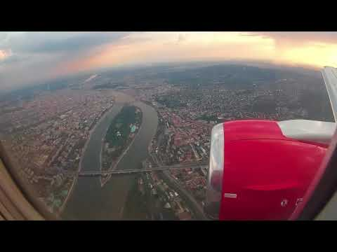 Landing at Budapest Ferenc Liszt International Airport, Hungary - 20th August, 2018