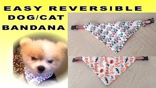 HALLOWEEN AND CHRISTMAS DOG/CAT REVERSIBLE AND DOUBLE OCCASION BANDANA