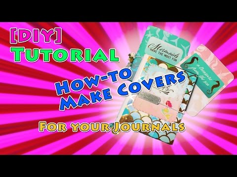 [DIY] Tutorial How To Make Mermaid Traveler's Notebook / Junk Journal / Smash Book Cover Tutorial