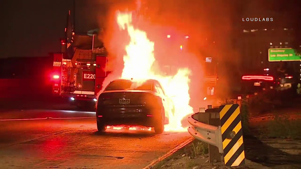 DTLA SigAlert Car Fire / Downtown LA 6 17 18