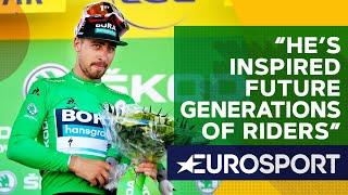 Yates Tells Touching Story Of 'pure class' Sagan Kindness   The Bradley Wiggins Show   Eurosport