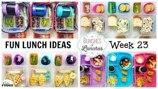 FUN School Lunch Ideas + What they Ate | JK, K, 1st grade, 2nd Grade | Bunches of Lunches