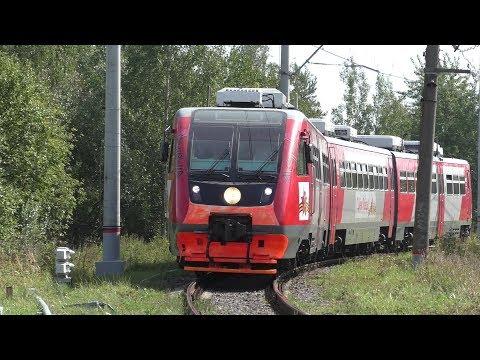 Рельсовый автобус РА2-115 станция Кубинка-1