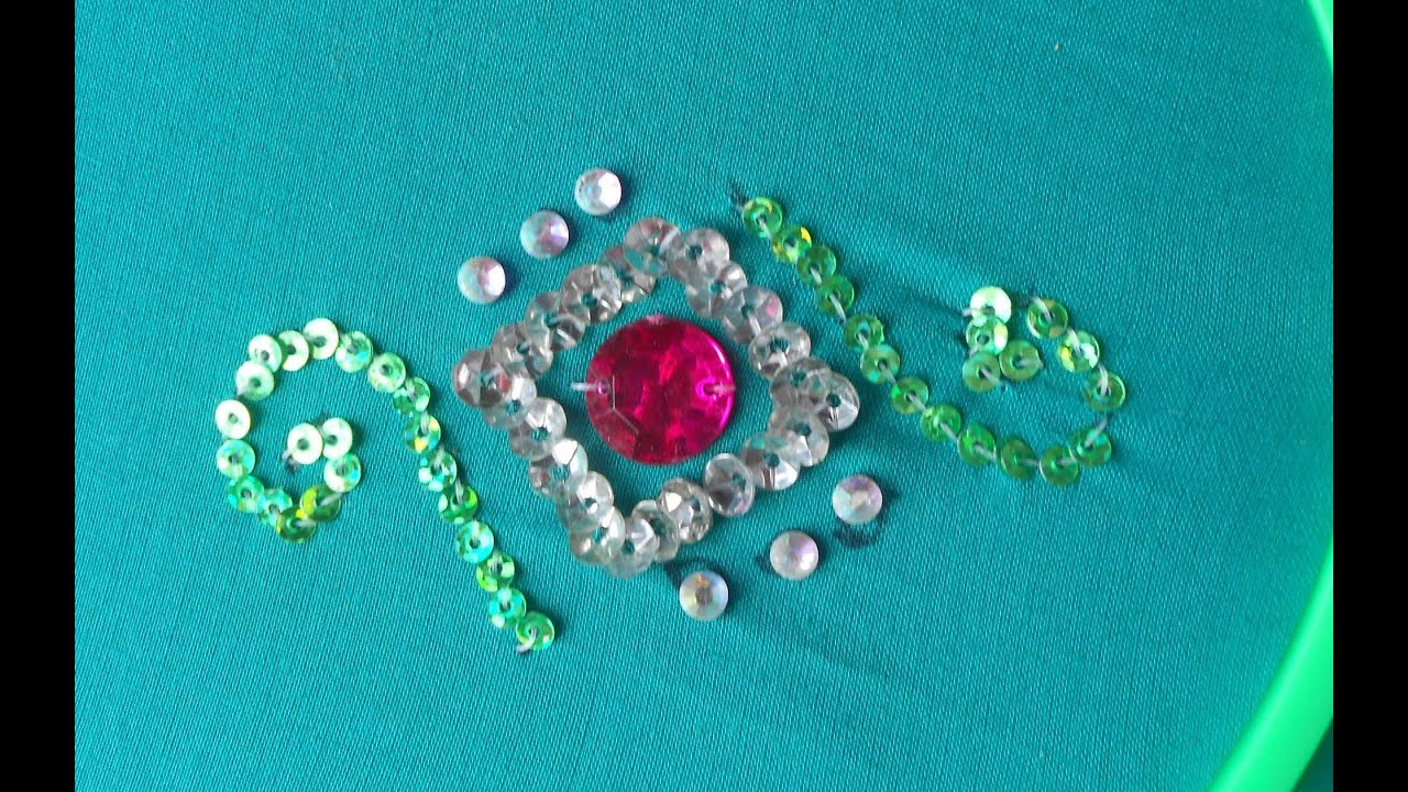 Bead embroidery how to sew a simple design using out