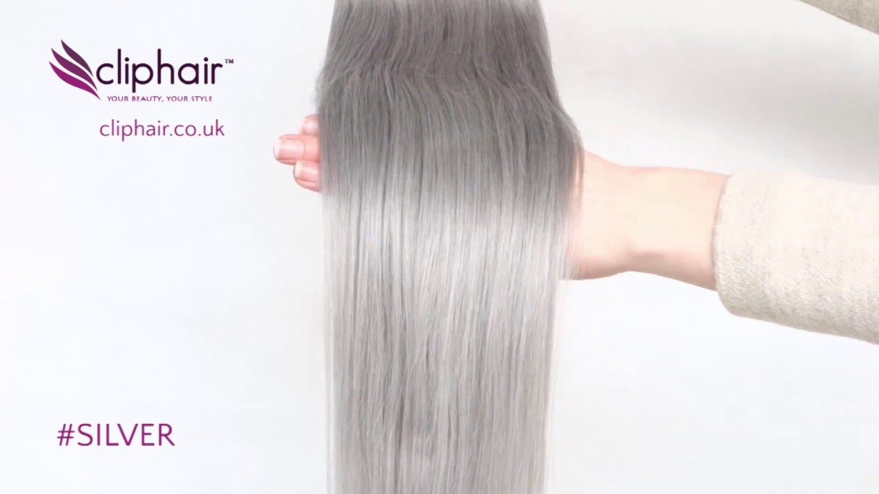 Silvergrey Human Hair Extensions By Cliphair Youtube
