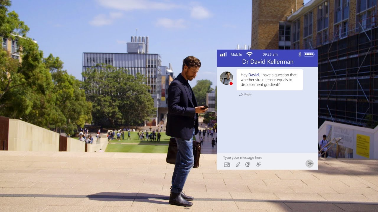 University classroom fosters learning community using Microsoft Teams  (audio described version)