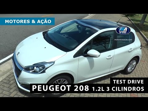 Peugeot 208 1.2l 3 cilindros   Review   Test Drive   motoreseacao