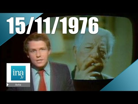 20h Antenne 2 du 15 novembre 1976 - Jean Gabin est mort | Archive INA