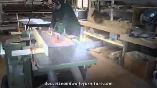 Trestle Table Building Process By Doucette And Wolfe Fine Handmade Furniture