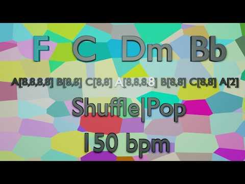 Backing Track in F Major - F - C - Dm - Bb - Shuffle Pop - 150 bpm