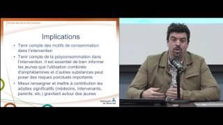 Conférence ISS: «Usage de stimulants chez des jeunes québécois à des fins de performance, d'amaigrissement ou pour d'autres motifs»