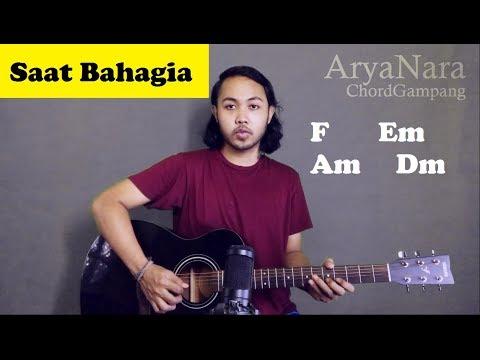 Chord Gampang (Saat Bahagia - Ungu) by Arya Nara (Tutorial Gitar) Untuk Pemula