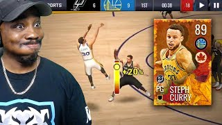 89 OVR HARVEST MASTER CURRY SHOOTING FADING 3-POINTERS! NBA Live Mobile 19 Season 3 Ep. 21