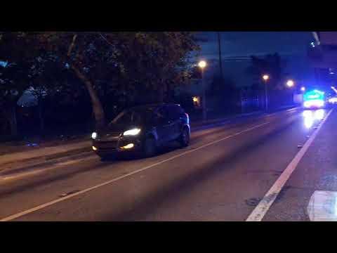 MIAMI-DADE POLICE DEPARTMENT CRUISER RESPONDING IN MIAMI, FLORIDA.