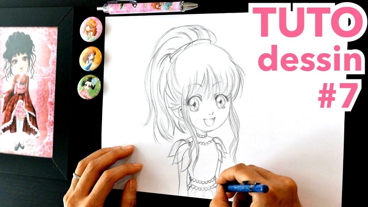 Tuto dessin 7 crayon comment je dessine une fille mon livre yume youtube - Tuto dessin facile ...