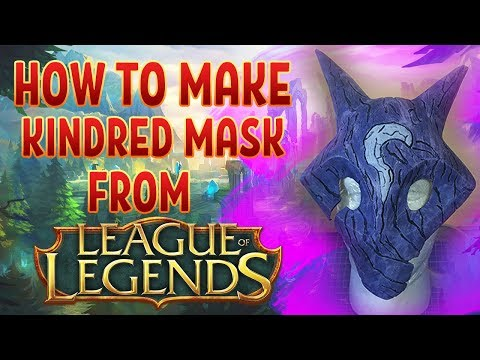 DIY HOW TO MAKE KINDRED MASK FROM LEAGUE OF LEGENDS GAME FROM PAPAER