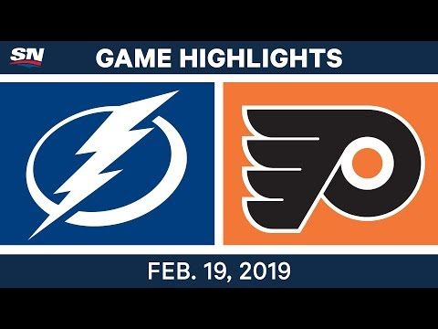 NHL Highlights | Lightning vs. Flyers - Feb 19, 2019