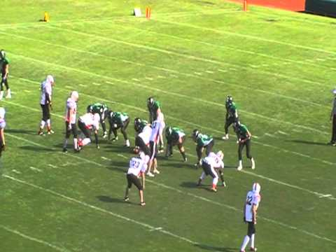 Hard hit from defensive tackle