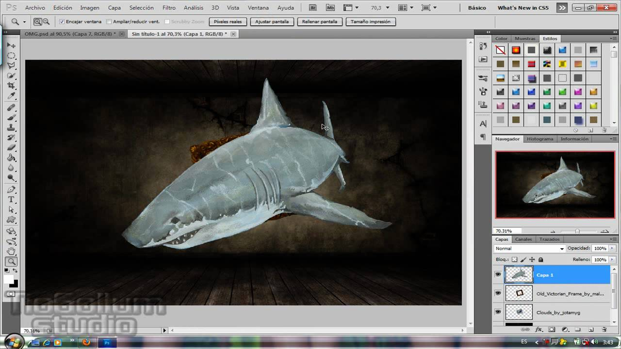Tutorial Wallpaper Shark Attack Photoshop