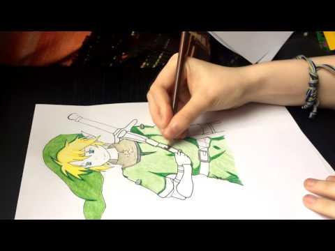 speed-drawing---link-[the-legend-of-zelda]