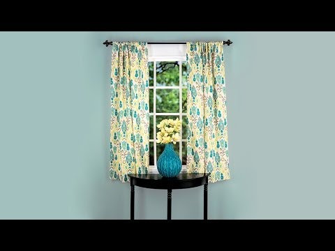 Learn to Sew: Simple Curtain Panel