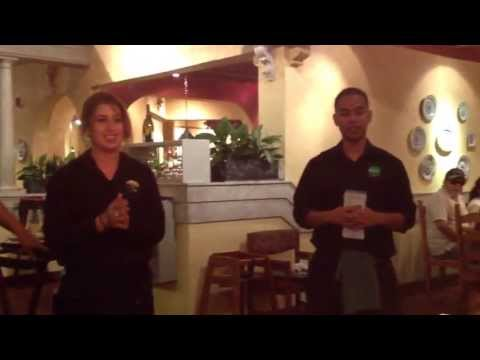 Happy Birthday song done by Olive Garden staff.. Vilma .. For one miss sweat 16 Jordan Jackson...