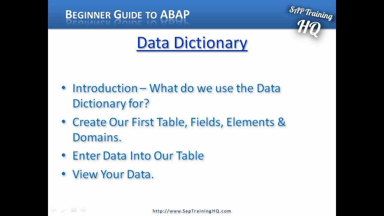 Create an SAP Table | SAP Training HQ