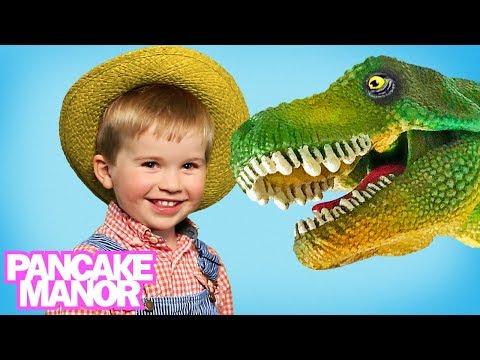 OLD MACDONALD HAD A FARM - Dinosaur Version! | Song For Kids | Pancake Manor