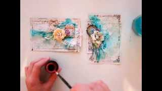 Two Cards in December Tutorial by Elena Morgun