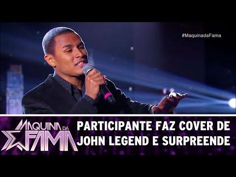 Participante faz cover de John Legend e surpreende | Máquina da Fama (31/07/17)