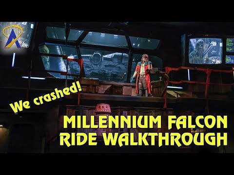 Full Millennium Falcon Ride Walkthrough at Star Wars: Galaxy's Edge - We crashed it!