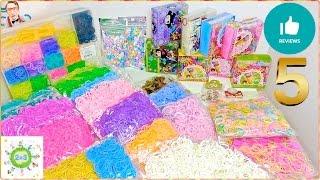 Плетение из резинок обзор новых резинок #5 Rainbow loom updated band collection review#5(В видео канала