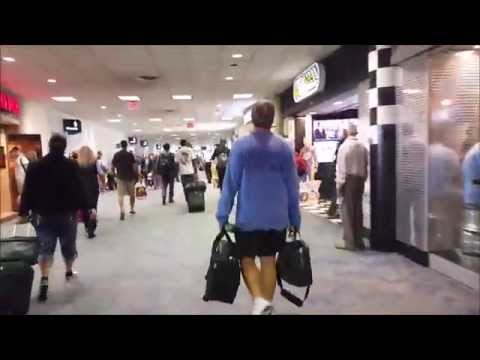 Charlotte Douglas International Airport - Departure and Arrival [HD]