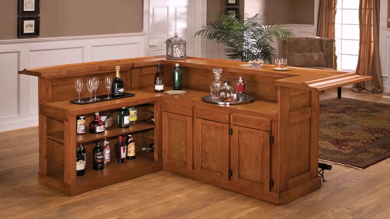 L Shaped Home Bar Plans Free - YouTube