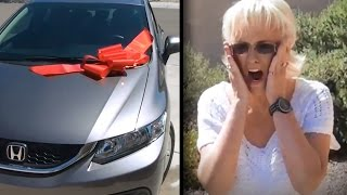Brothers Buy Mom a New Car as a Surprise Thank You for Being a Great Single Mom