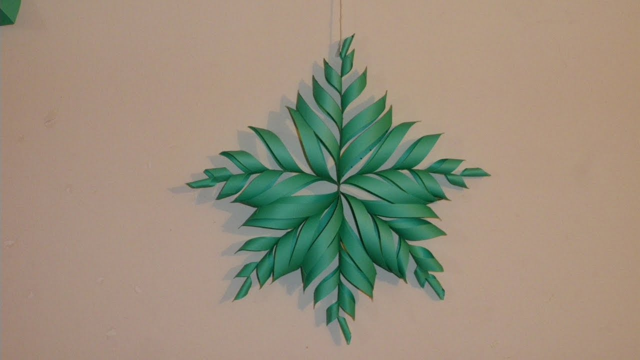 3d snowflake diy tutorial how to make 3d paper snowflake for christmas homemade decorations
