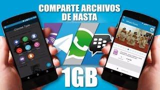 Como Enviar Archivos de más de 1GB por WhatsApp y Más