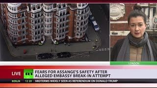 Did someone try to break into Ecuadorian Embassy to snatch Assange?