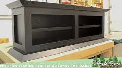 Modern Cabinet (With Automotive Spray Finish)