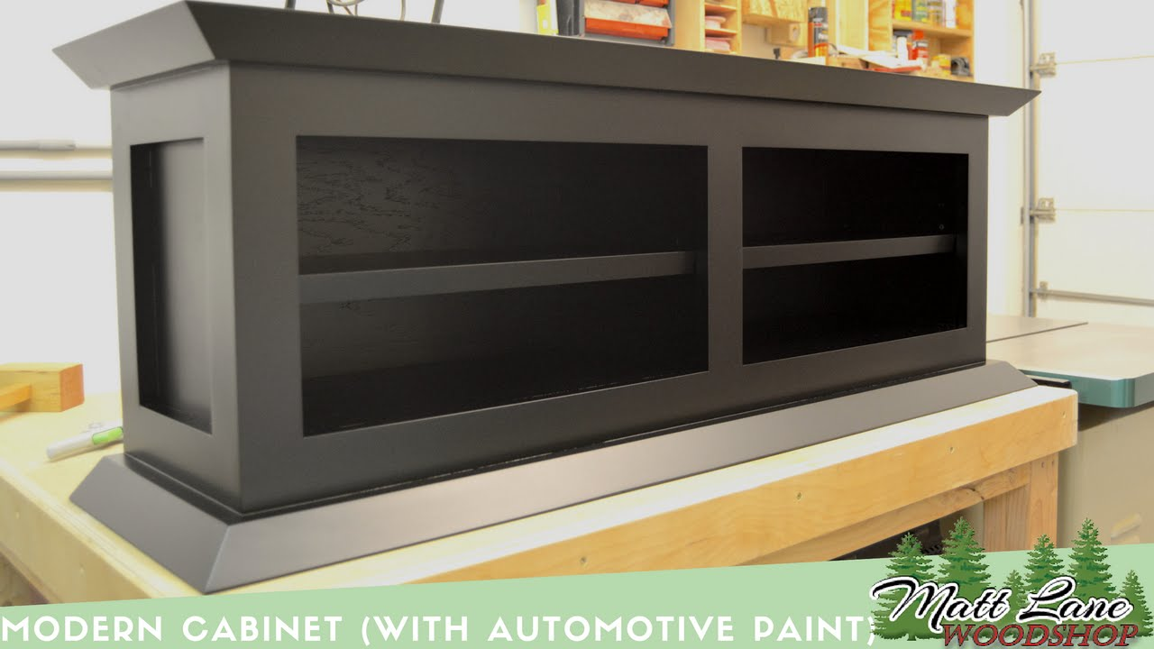 Modern Cabinet (With Automotive Spray Finish)   YouTube